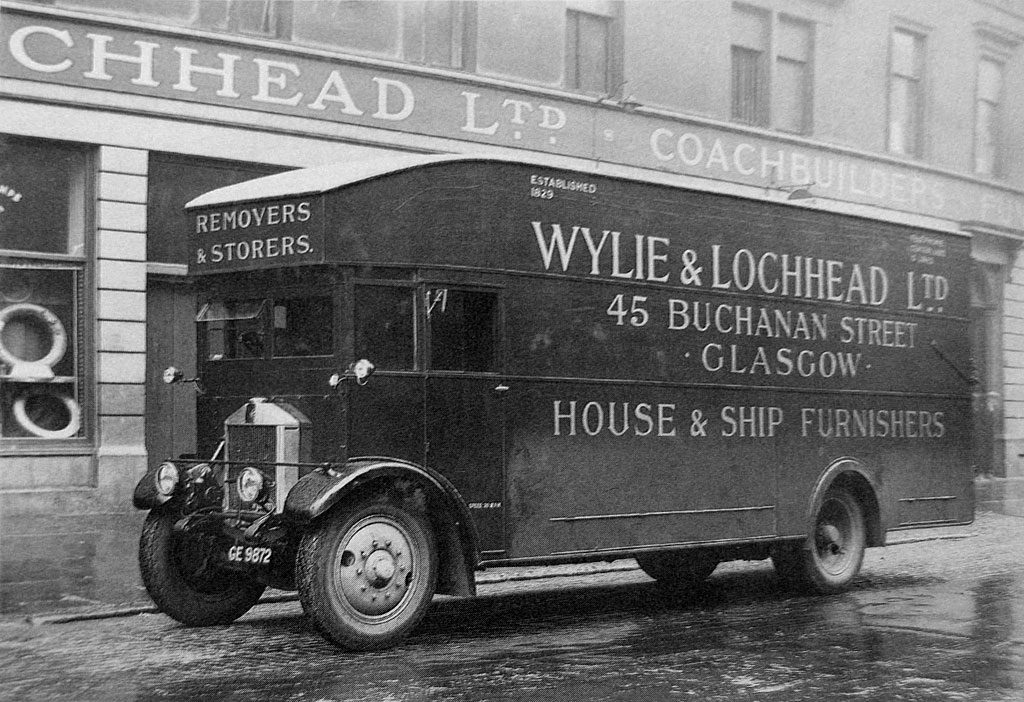 Van on the chassis of Albion PK28. From the Albion of Scotstoun book