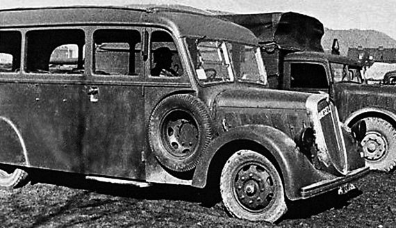 Bus on a chassis of Austro-Fiat HRM 6